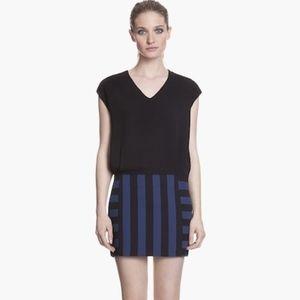 SANDRO 'Rayure' Shirt tail Shift Dress
